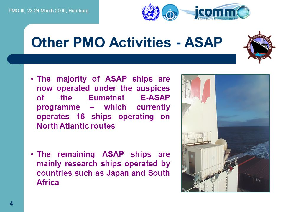 PMO-III, 23-24 March 2006, Hamburg. 14