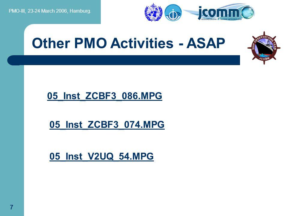 PMO-III, 23-24 March 2006, Hamburg.27 Specific Functions ctd..