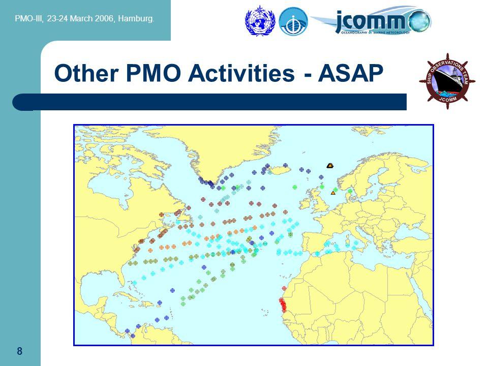 PMO-III, 23-24 March 2006, Hamburg. 8 Other PMO Activities - ASAP