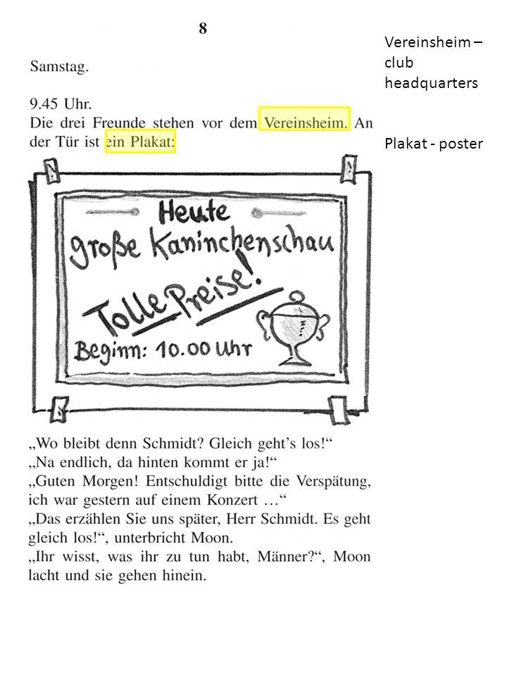 Vereinsheim – club headquarters Plakat - poster