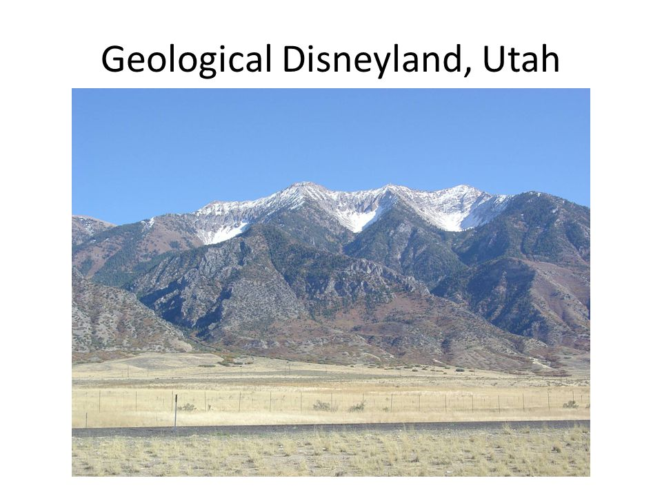 Geological Disneyland, Utah