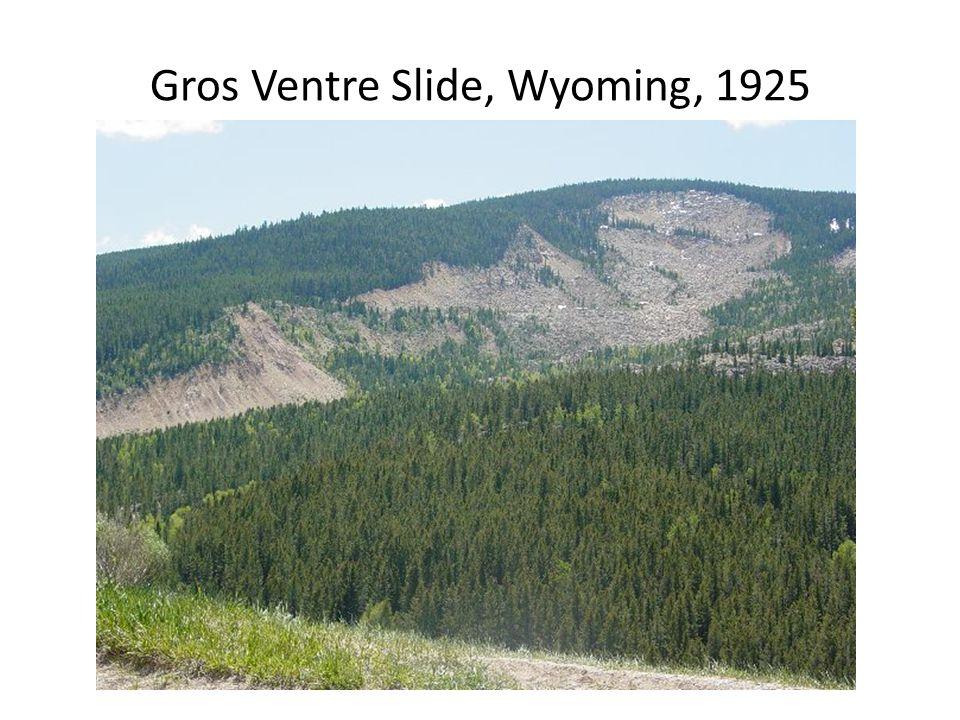 Gros Ventre Slide, Wyoming, 1925