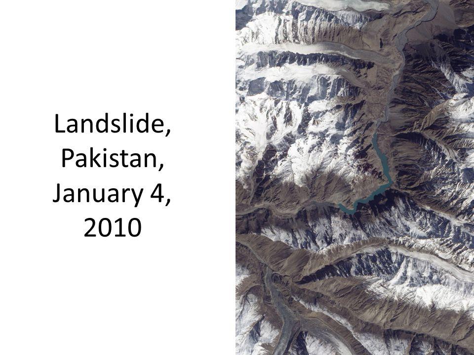 Landslide, Pakistan, January 4, 2010