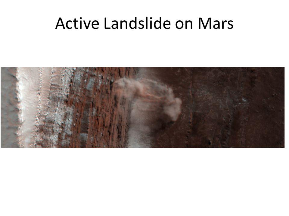 Active Landslide on Mars
