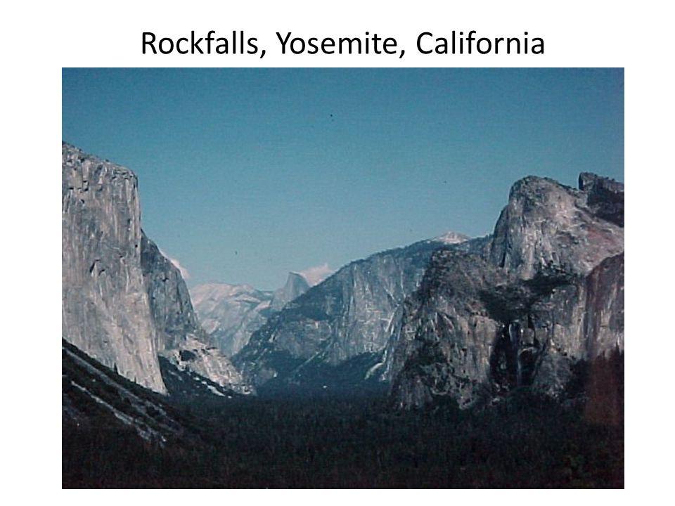 Rockfalls, Yosemite, California