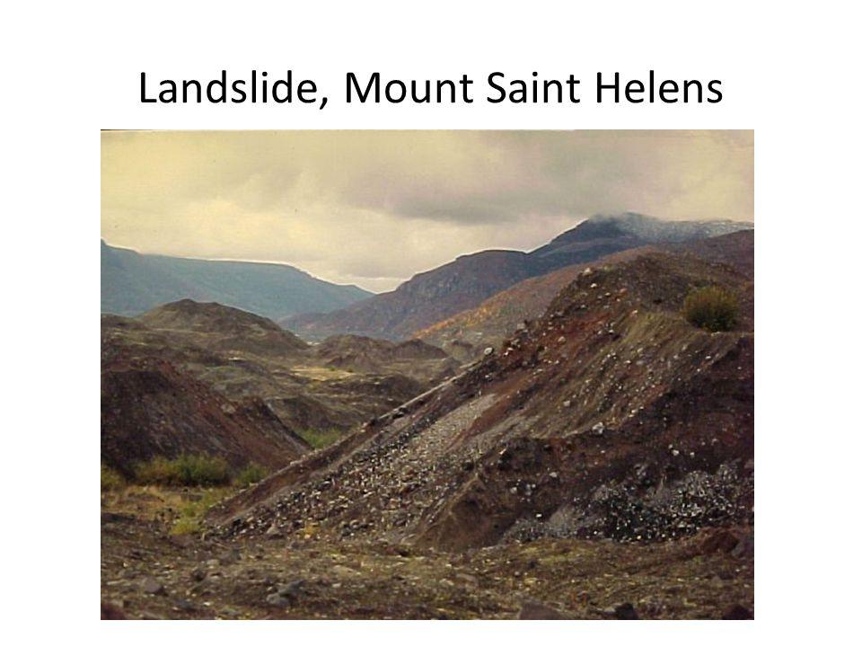 Landslide, Mount Saint Helens