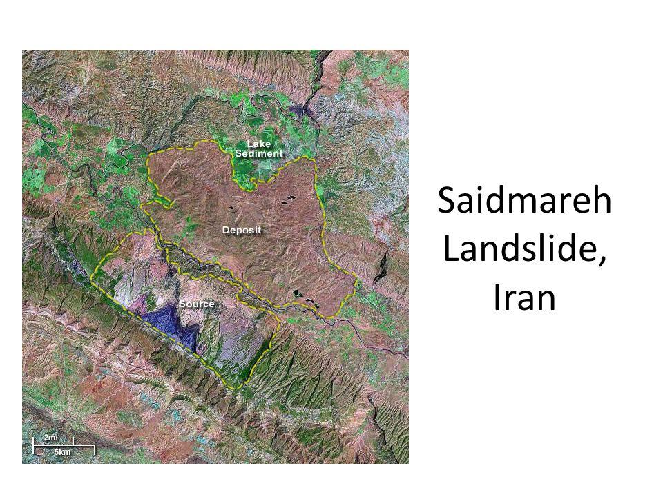 Saidmareh Landslide, Iran