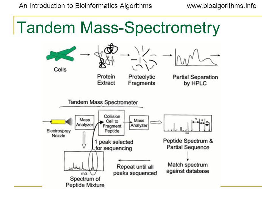 An Introduction to Bioinformatics Algorithmswww.bioalgorithms.info Tandem Mass-Spectrometry
