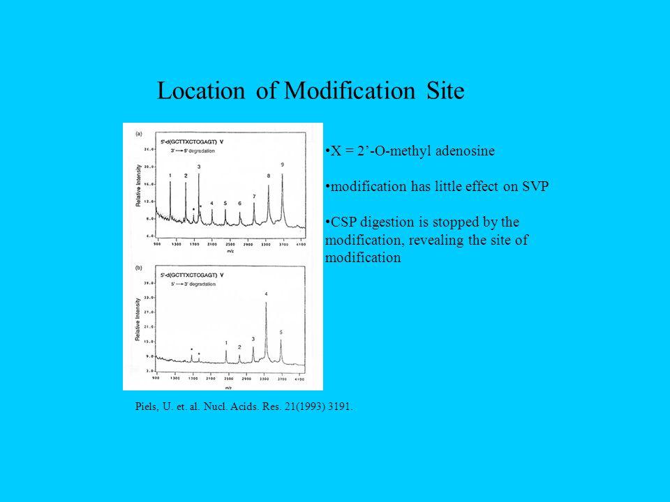 Location of Modification Site Piels, U. et. al. Nucl.