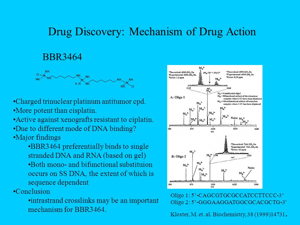 Drug Discovery: Mechanism of Drug Action Kloster, M.