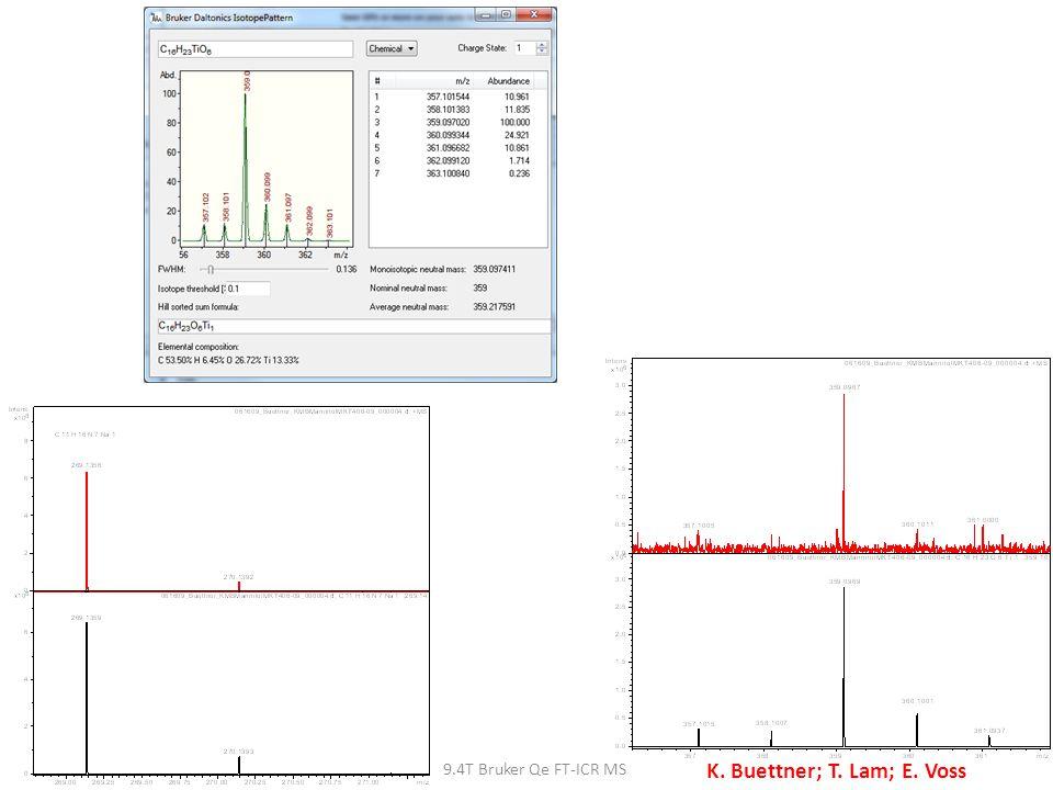 9.4T Bruker Qe FT-ICR MS K. Buettner; T. Lam; E. Voss