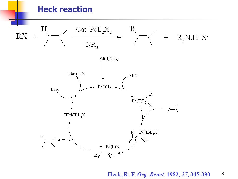 3 Heck, R. F. Org. React. 1982, 27, 345-390