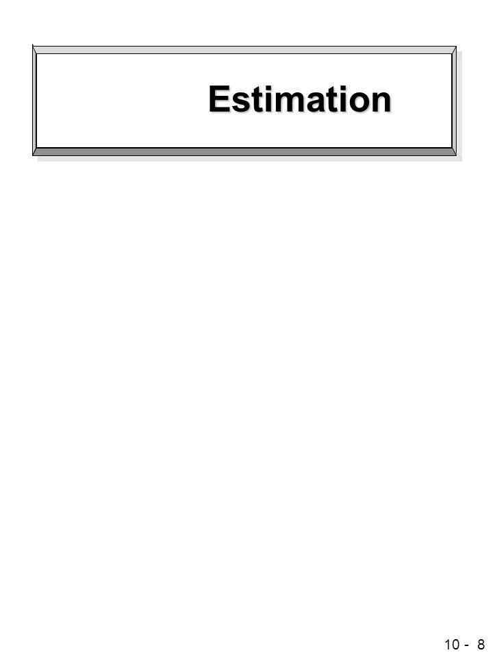 10 - 8 Estimation