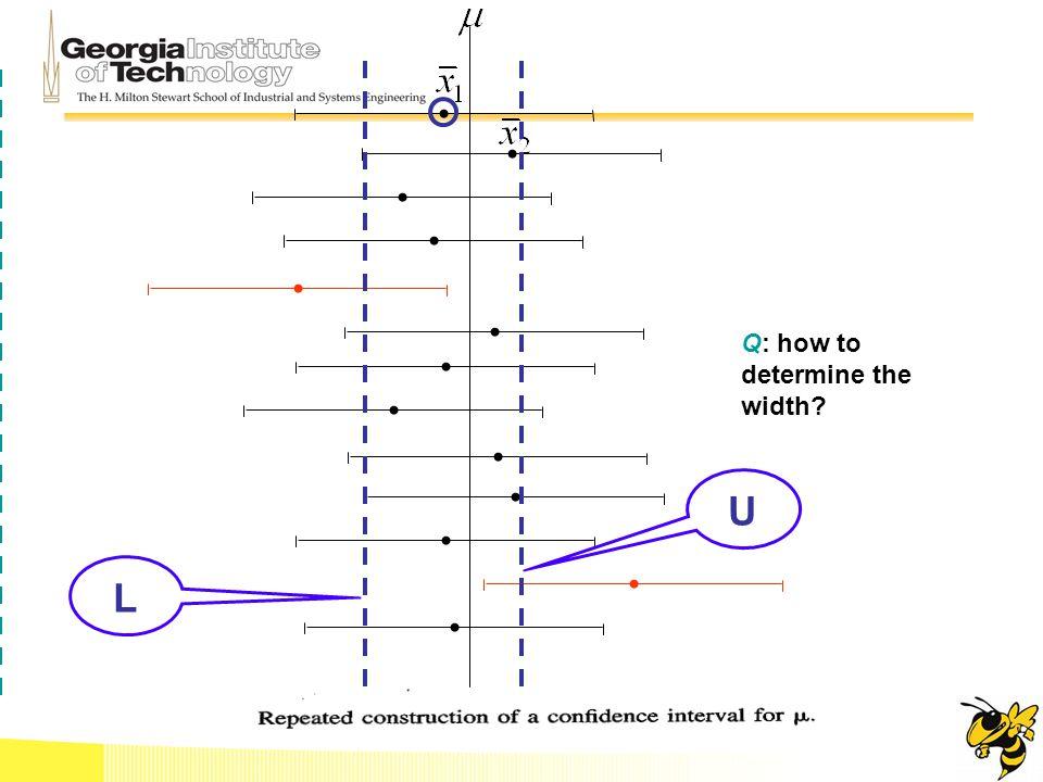 L U Q: how to determine the width?
