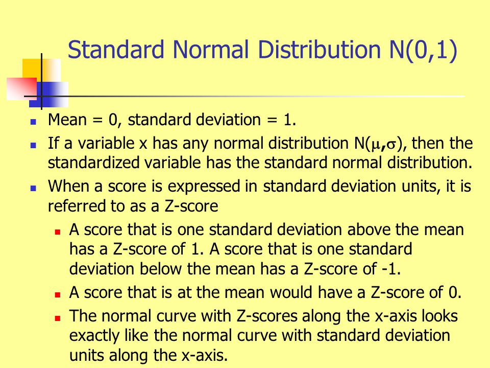 Normal Distribution Calculations Since all normal distributions are normal when we standardize, we can find the areas under any normal curve from a single table.