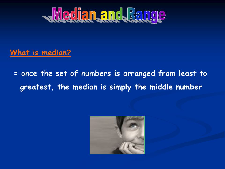 What is median.