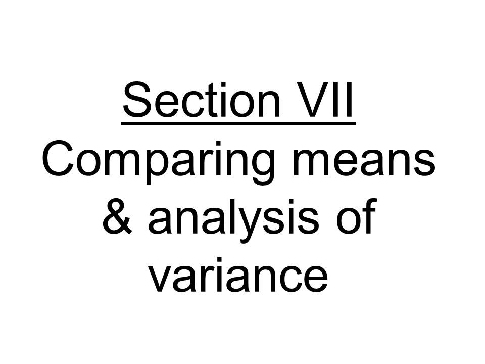 Transformations There are two requirements for the analysis of variance (ANOVA) model.