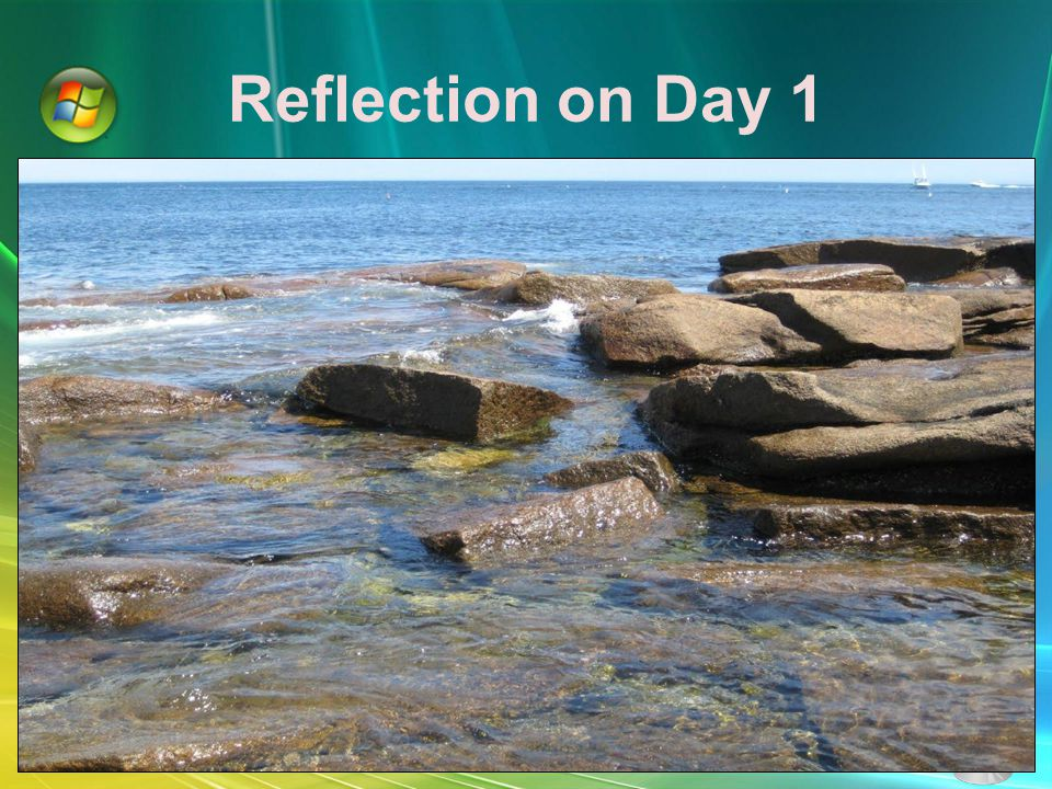 Reflection on Day 1