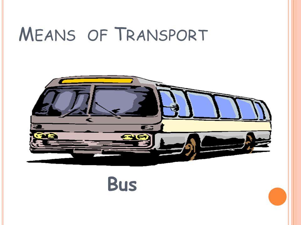 M EANS OF T RANSPORT Train