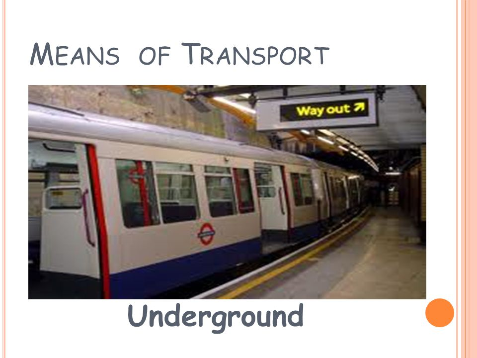 M EANS OF T RANSPORT Tram