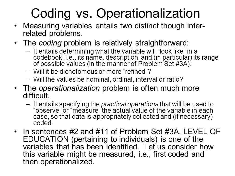 Coding vs.