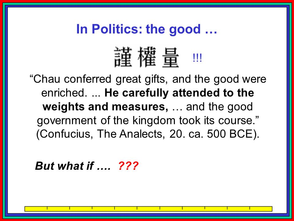 In Politics: the bad … Sixty thousand measures of weight in France before the Revolution of 1789....