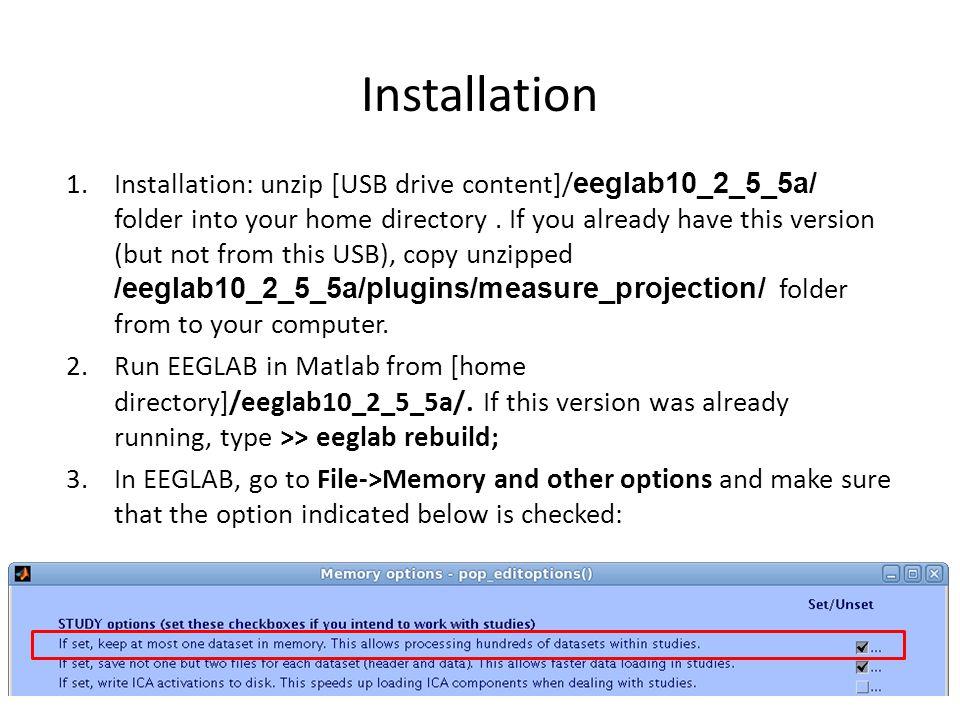 Loading Sample Study 4.Load study_rsvp.study from [USB driver]/Advanced_EEGLAB_Workshop/Session C - MPA/Data/rsvp_study in EEGLAB.
