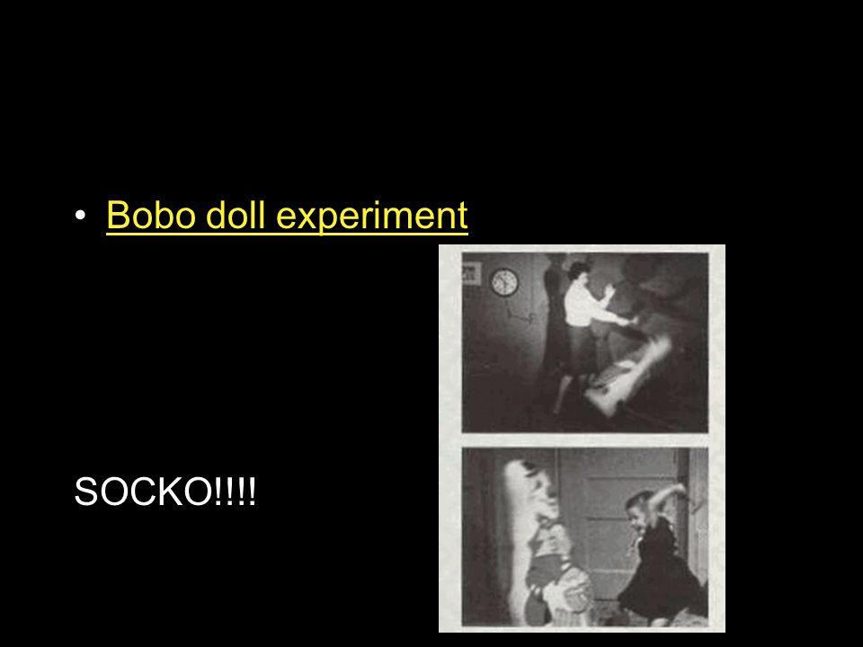 Bobo doll experiment SOCKO!!!!