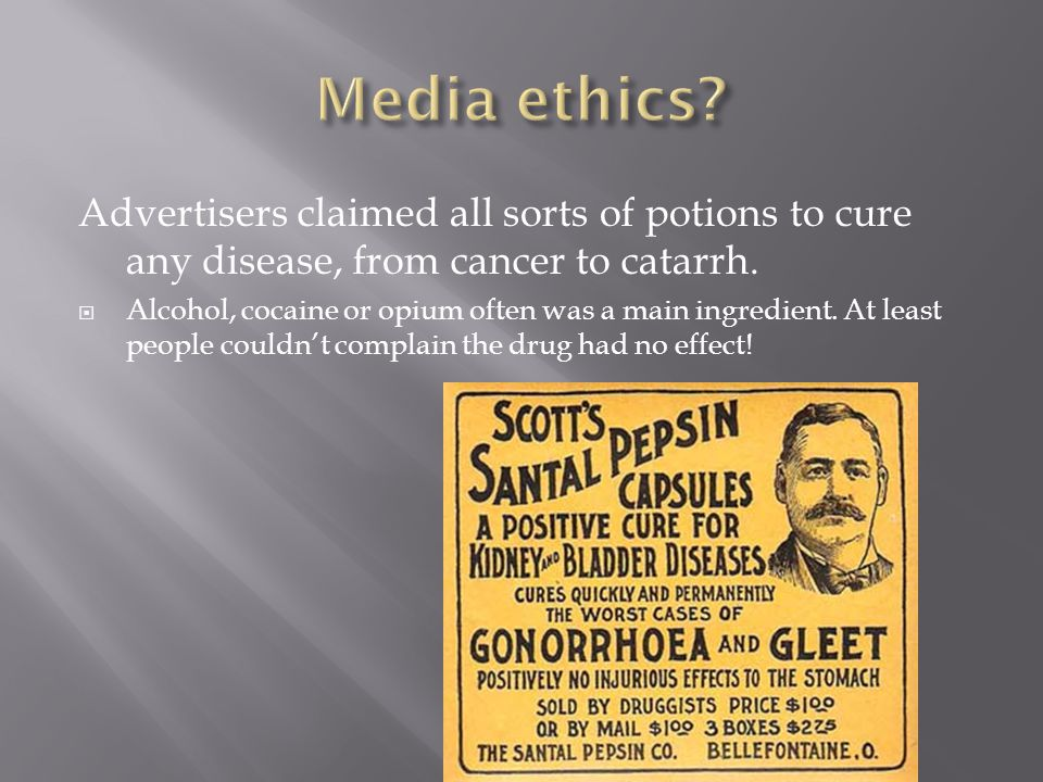  Perhaps media ethics is a bell curve, from weak ethics, to great concern about ethics, back to weak ethics.