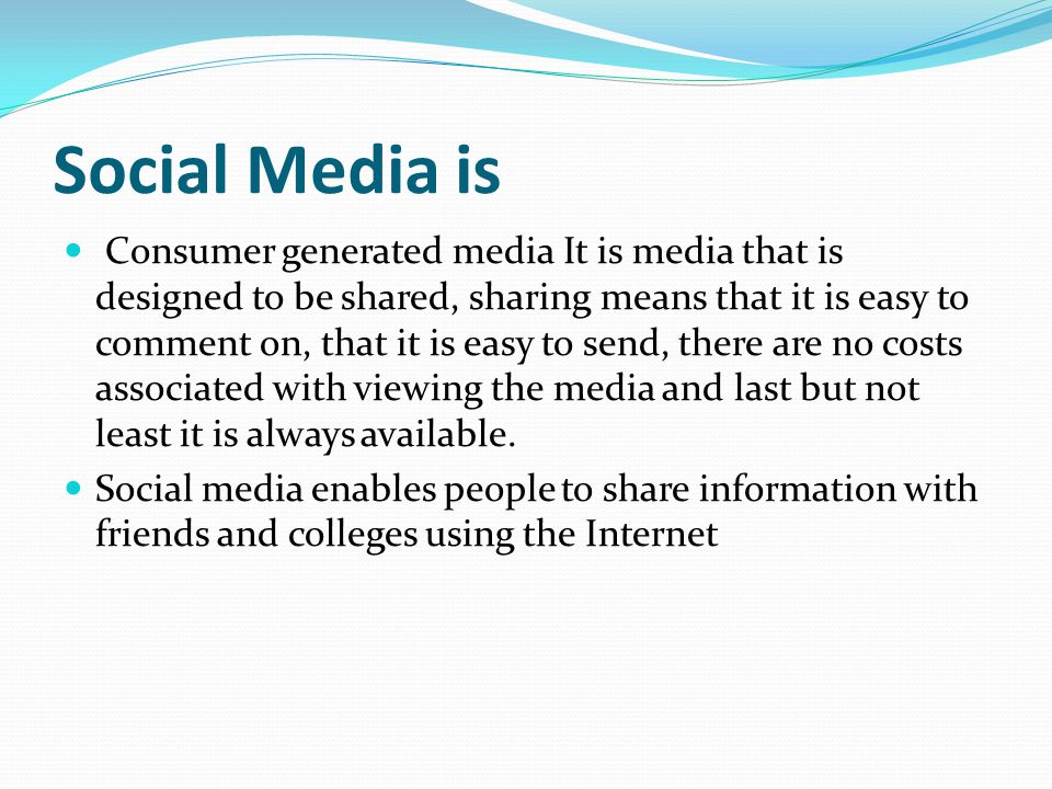What is Social Media and how can you use it to enhance student support.