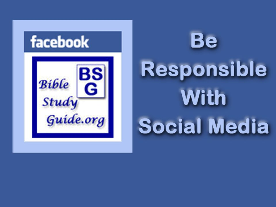Social media can be used for good and evil Rom.7:12-13 law is good when used properly, but....