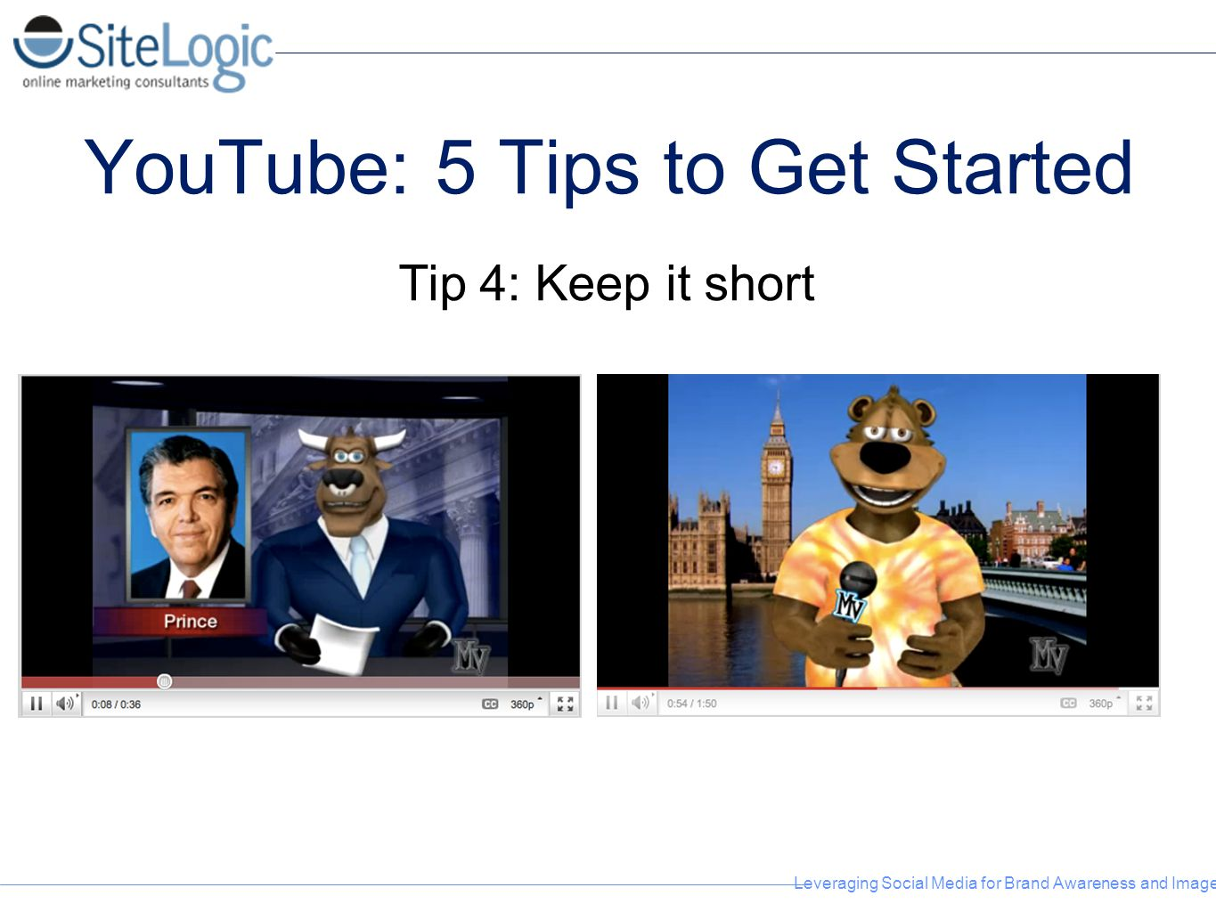 Leveraging Social Media for Brand Awareness and Image YouTube: 5 Tips to Get Started Tip 4: Keep it short