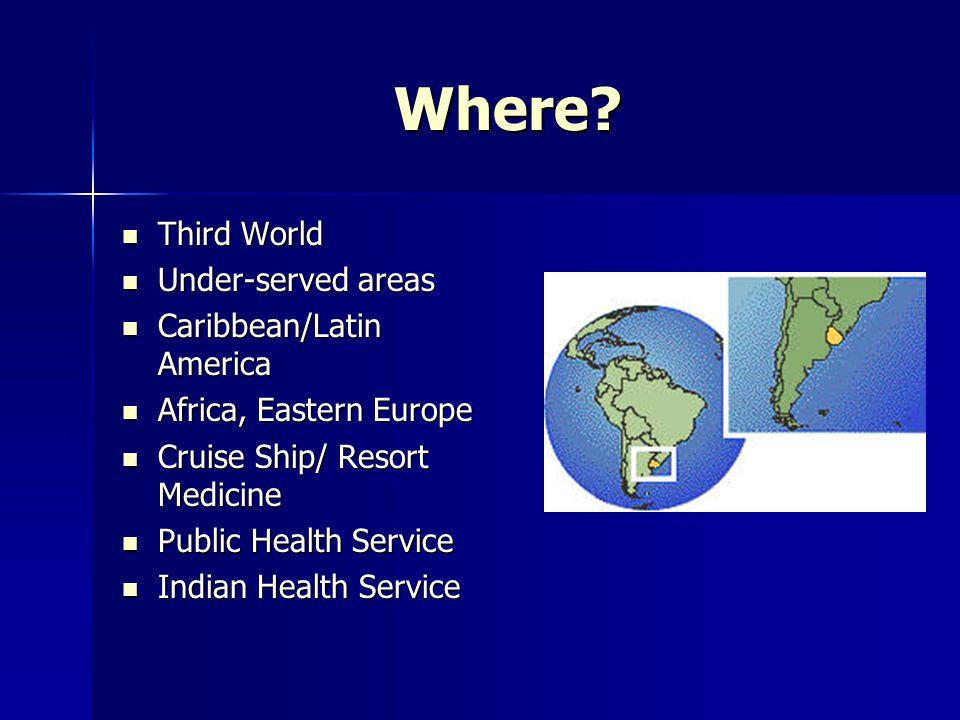 Web Sites www.medicstravel.co.uk www.medicstravel.co.uk –Medics Travel www.ifmsa-usa.org www.ifmsa-usa.org –International Federation of Medical Students Association www.vanterventures.com www.vanterventures.com –Disney Cruise Ship Physician www.astmh.org www.astmh.org –American Society of Tropical Medicine and Hygiene www.