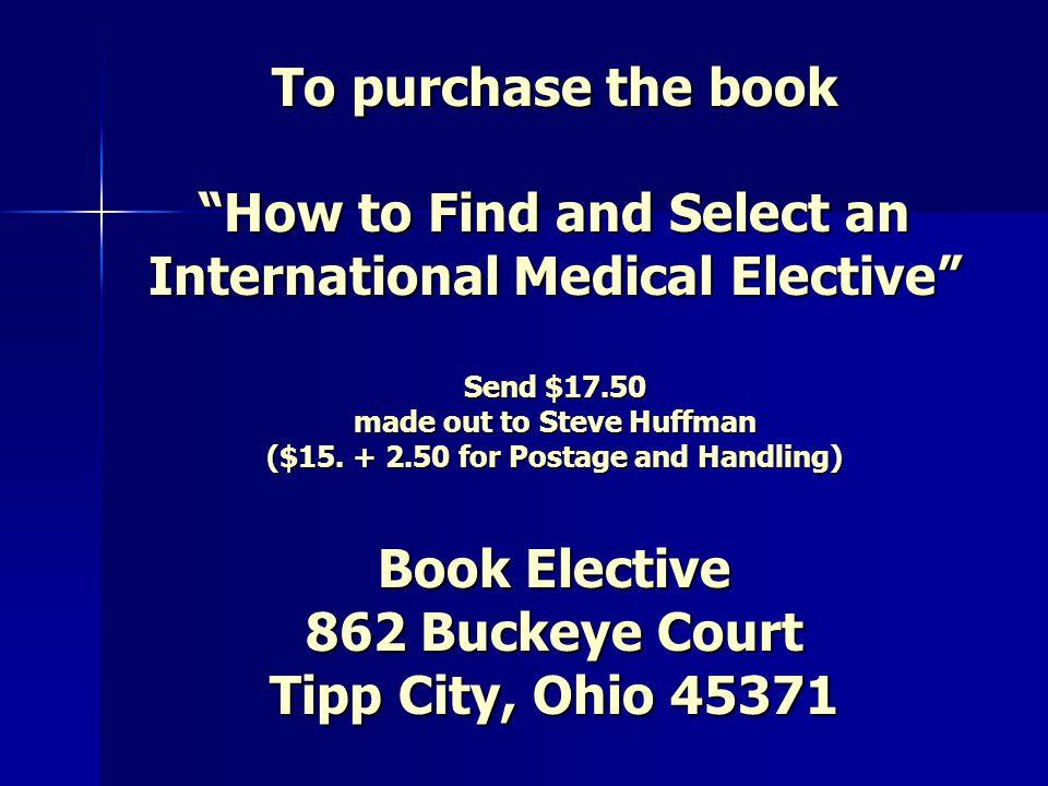 Questions Steve Huffman, MD 862 Buckeye Court Tipp City, Ohio 45371 Ph.