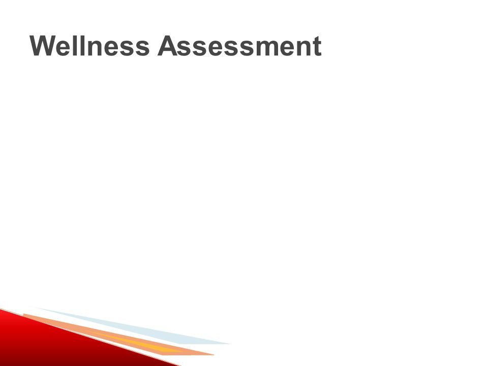 Wellness Assessment
