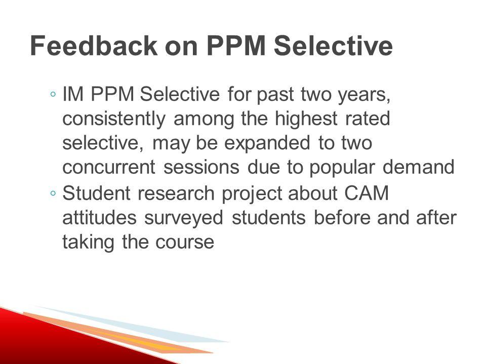 PPM – INTEGRATIVE MEDICINE IM. SELECTIVE, MS2 COURSE STATS