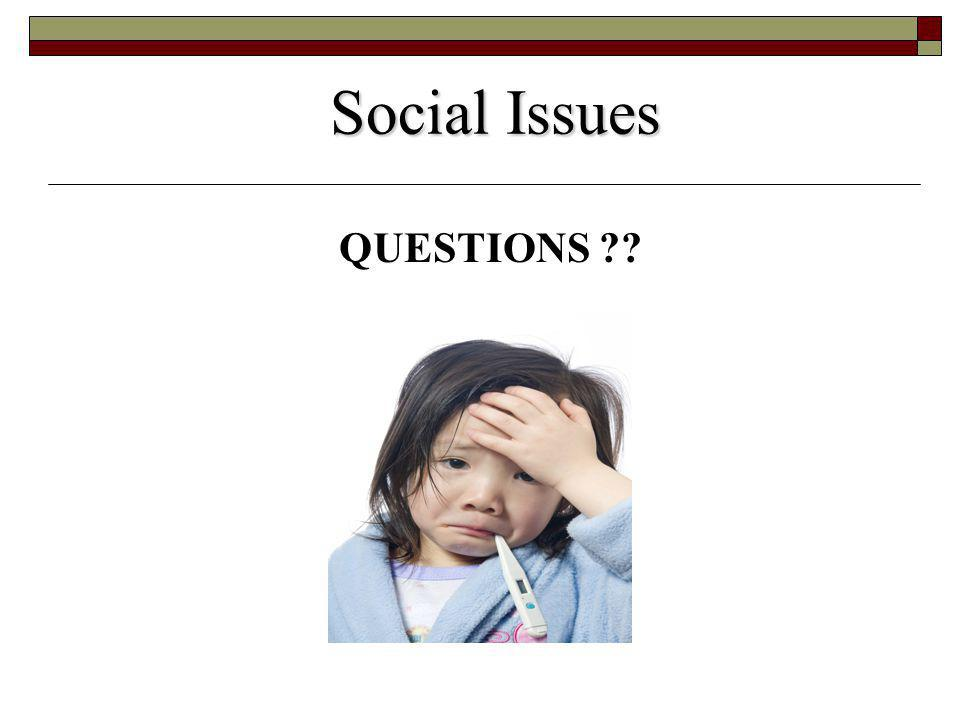 Social Issues QUESTIONS