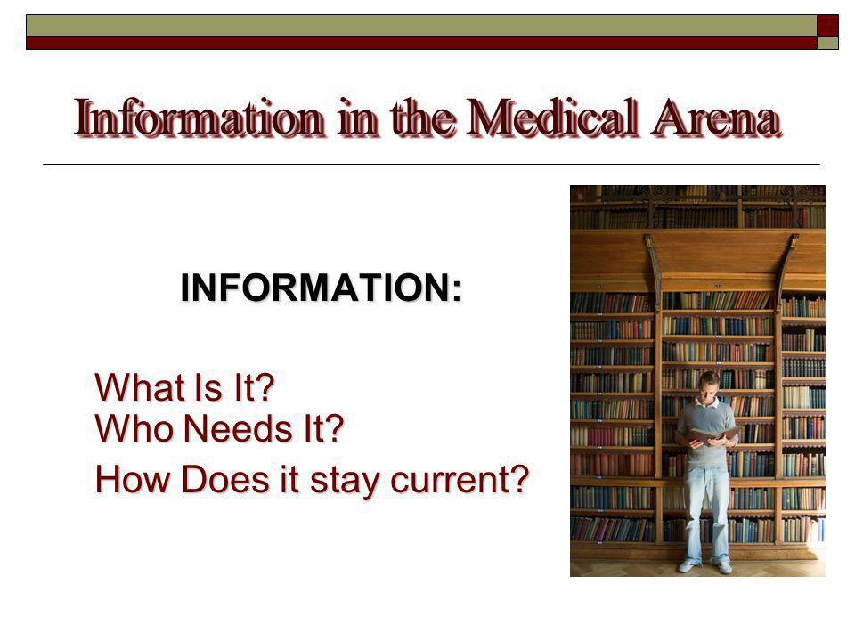 Information in the Medical Arena Medical Information .