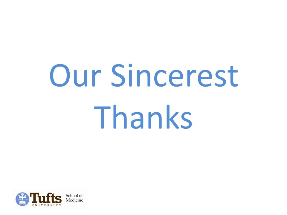 Our Sincerest Thanks