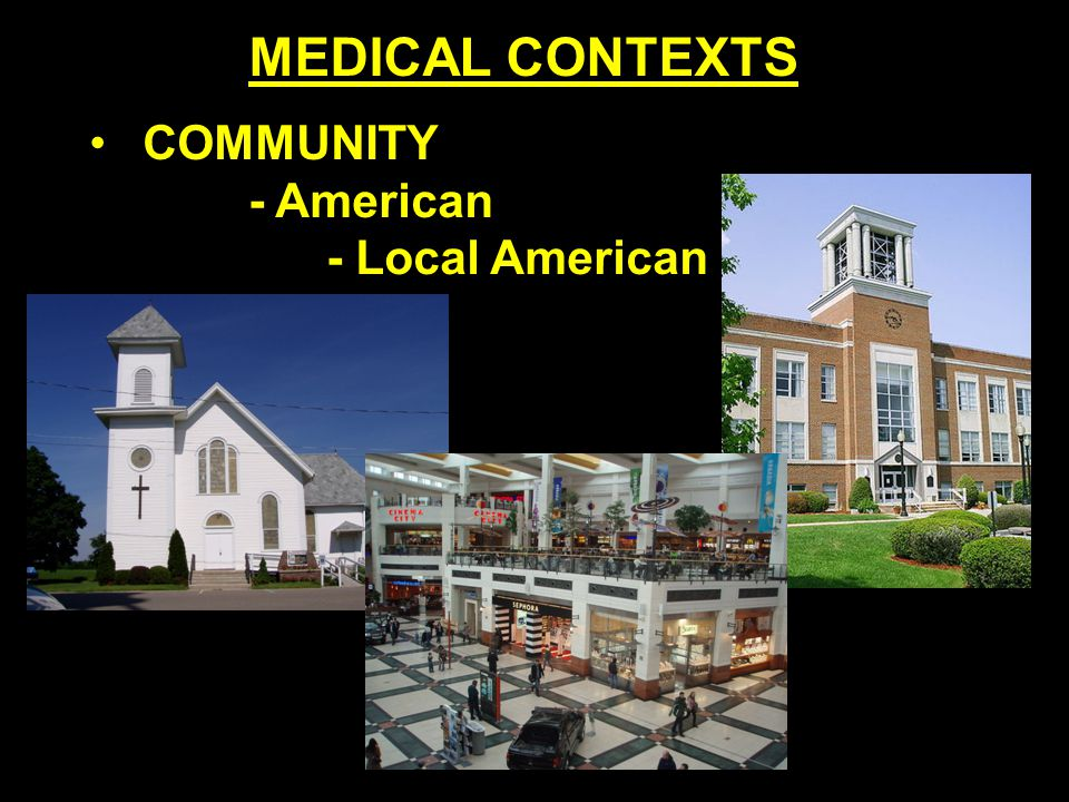 COMMUNITY - American - Local American MEDICAL CONTEXTS