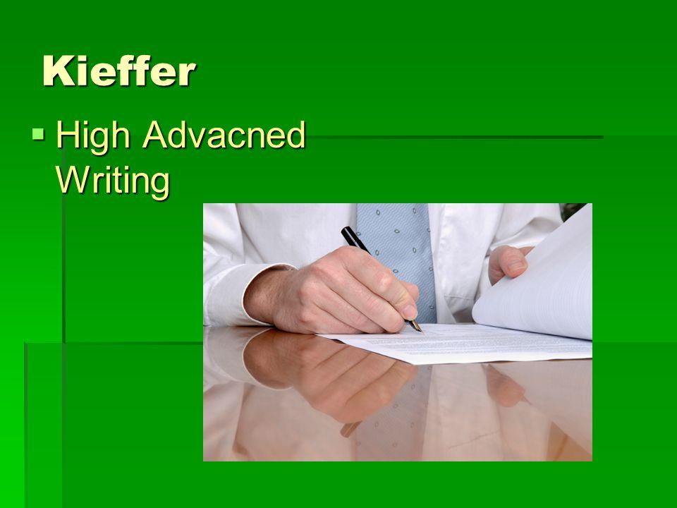 Kieffer  High Advacned Writing