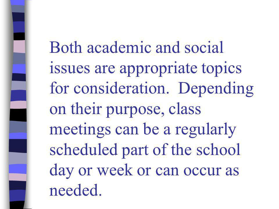 When is a problem suitable for a class meeting.