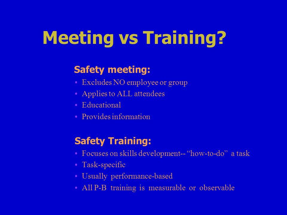 Meeting vs Training.