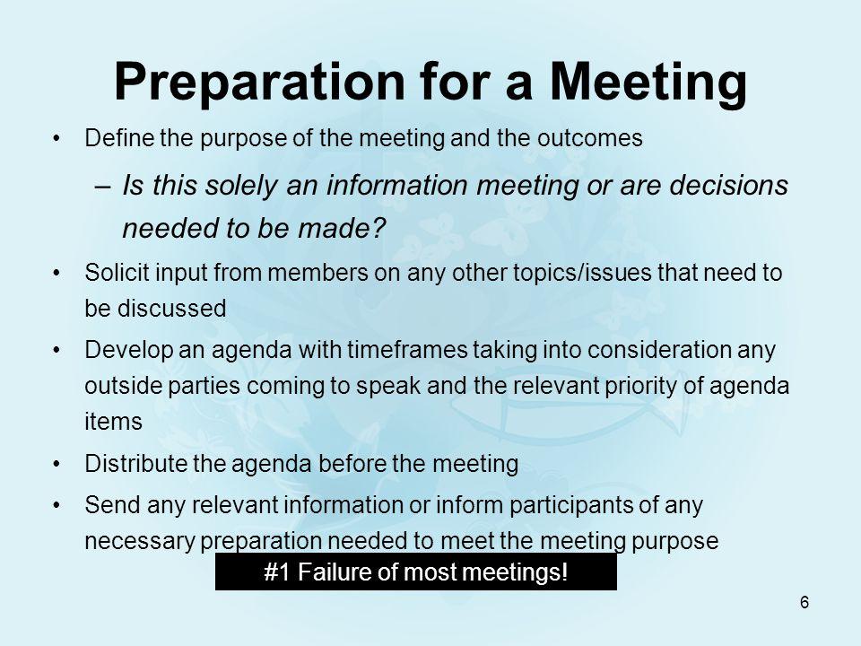 7 Agenda Example St.