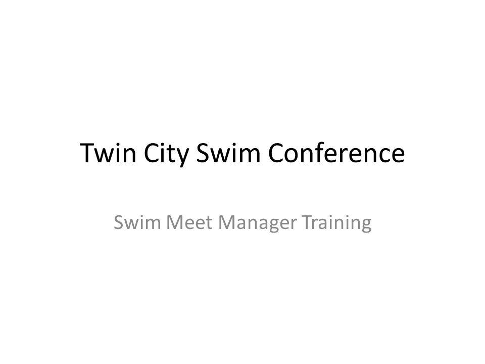 Twin City Swim Conference Swim Meet Manager Training