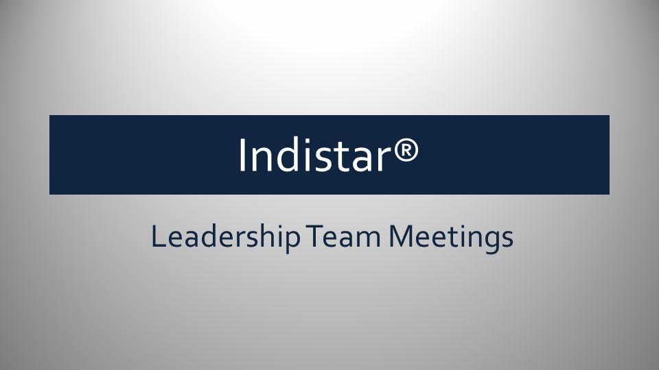 Indistar® Leadership Team Meetings