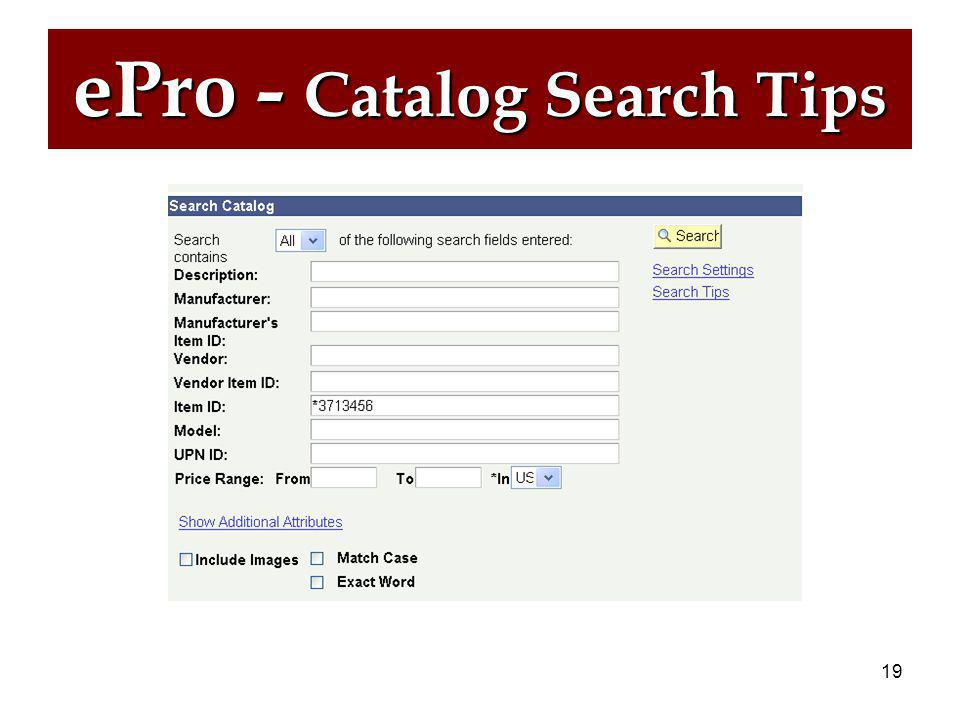 18 ePro – Catalog Search Tips