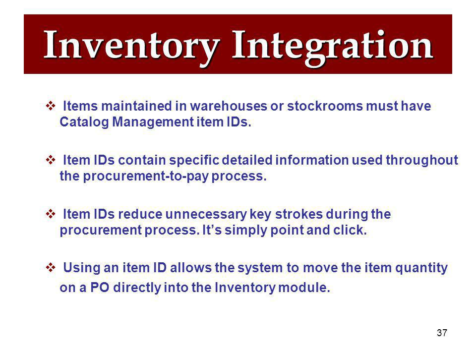 36 Inventory Statistics  Inventory module is one of the Supply Chain modules.  Almost 900 people currently use the Inventory Module with great succe