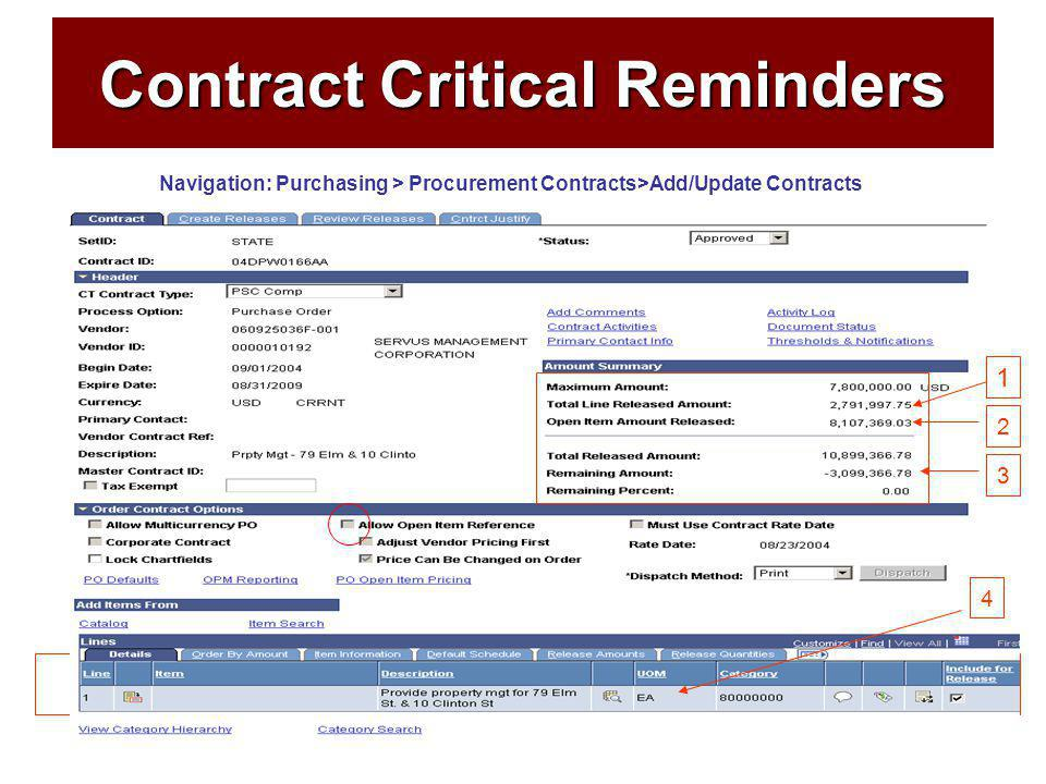 49 Contract Critical Reminders