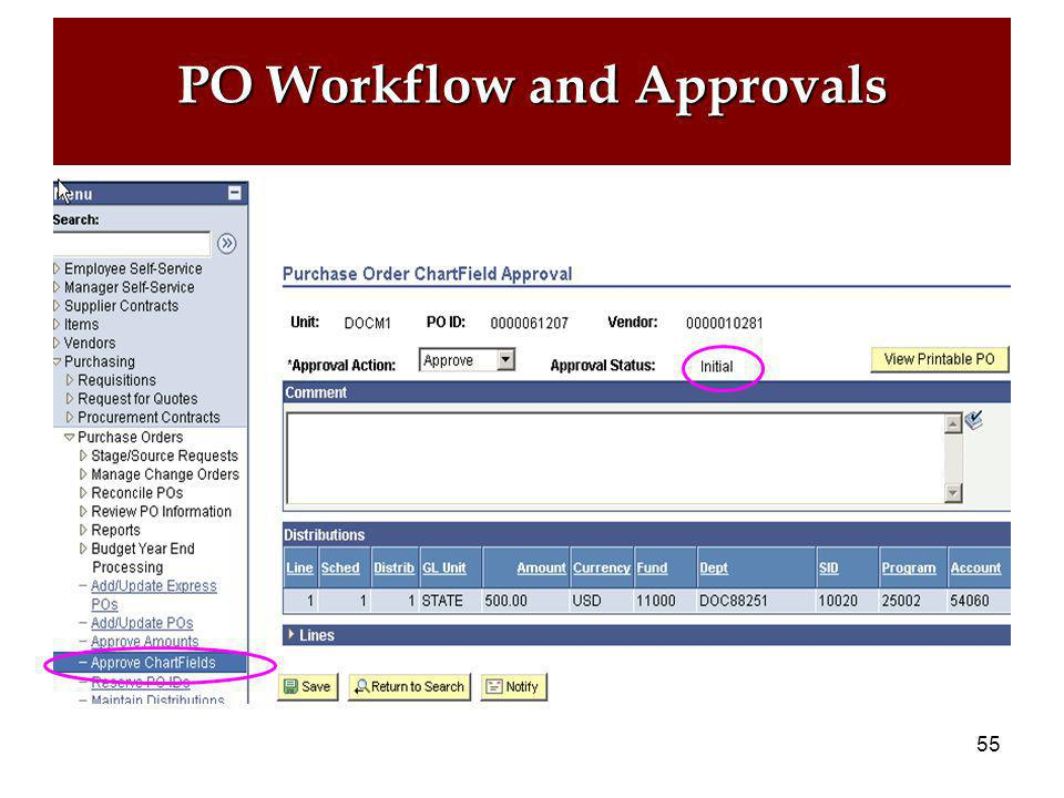 54 PO Workflow and Approvals